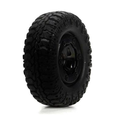 Losi Scale AT Tire & Wheel, Mounted (4) :Mc4x4