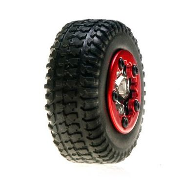 Losi Tires, Mounted, Chrome: Micro SCT