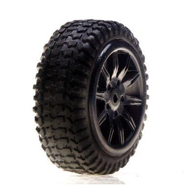 Losi Tires, Mounted, Silver: Micro Rally