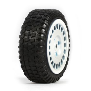 Losi Tires, Mounted, White (4): Micro Rally