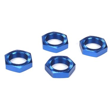 Losi Wheel Nuts, Blue Anodized (4): 5TT