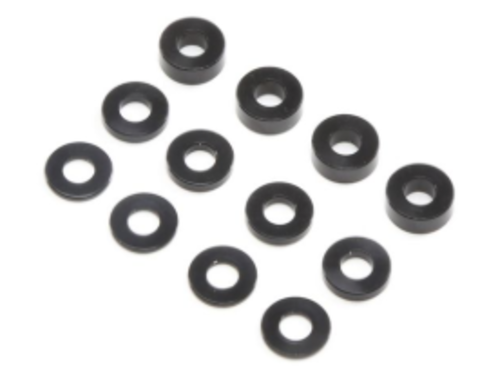 M3 Caster Block Alum Washer Set, Black (4ea)