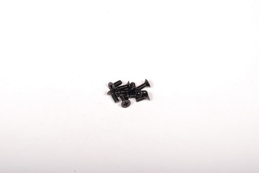 M3x8mm Flat Head (Black) (10pcs)