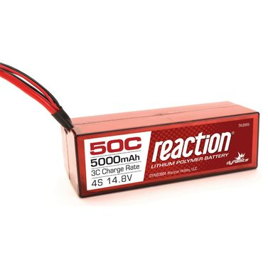 Reaction 14.8V 5000mAh 4S 50C LiPo, Hardcase: Deans