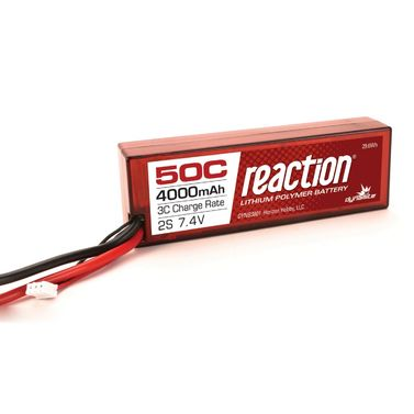 Reaction 7.4V 4000mAh 2S 50C LiPo, Hardcase: TRA