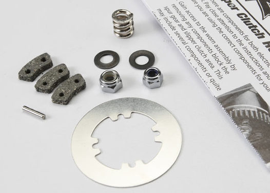 Rebuild kit, slipper clutch (steel disc/ friction pads (3)/ spring (2)/ 2x9.8mm pin/ 5x8mm MW/ 5.0mm NL (1)/ 4.0mm NL (1)) (for Revo & Maxx trucks)
