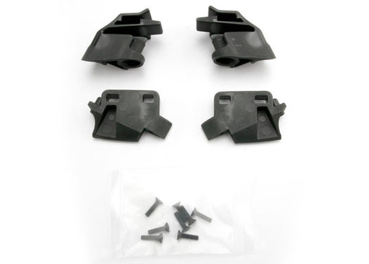 Retainer, battery hold-down, front (2)/ rear (2)/ CCS 3x12 (4)