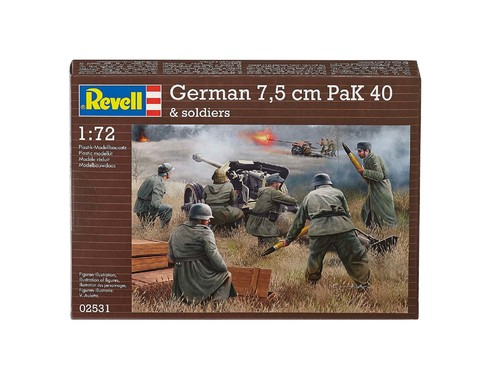 Revell German Pak 40 with Soldiers