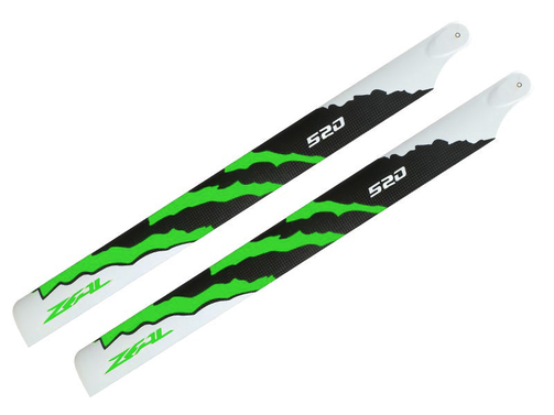Rotorblätter ZEAL Carbon fiber Energy 520 mm neon green