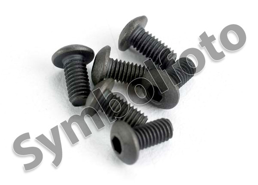 Round Head Self Tapping Hex Screw 2*6 4pcs