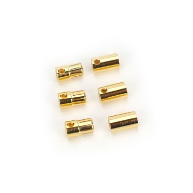 SET OF 3 FEMALE AND MALE 8.0MM BULLET CONNECTORS