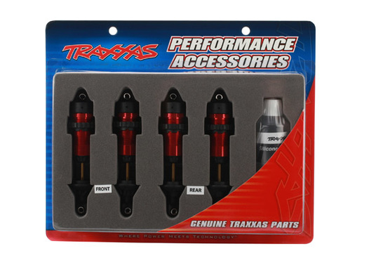 SHOCKS, GTR ALUMINUM, RED-ANOD