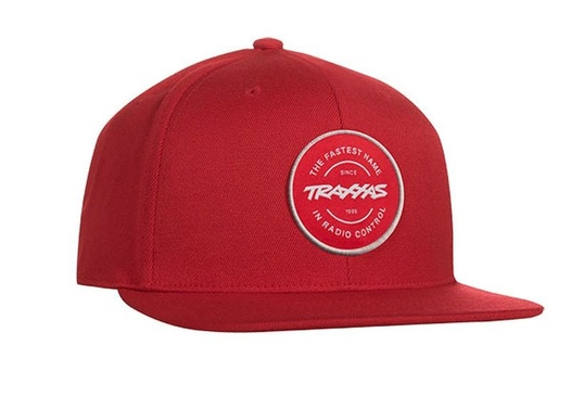SNAP HAT CIRCLE PATCH RED