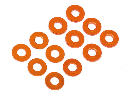 Scheiben Set 3 x 7mm (0.5mm/1.0mm) orange (6St)