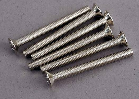 Screws, 3x30mm countersunk machine (6)