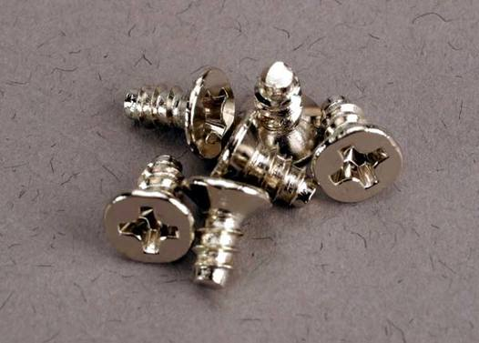 Screws, 3x6mm countersunk self-tapping (6)