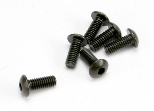 Screws, 4x10mm button-head machine (hex drive) (6)