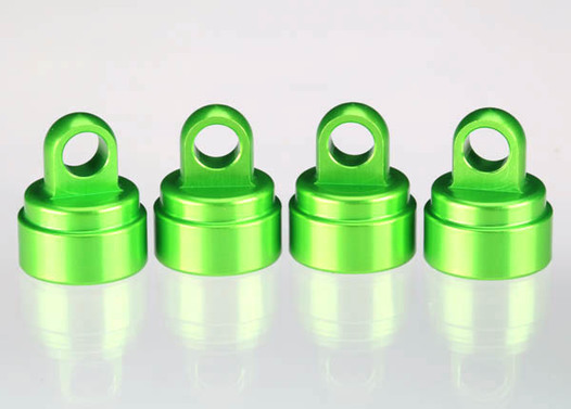 Shock caps, aluminum (green-anodized) (4) (fits all Ultra Shocks)