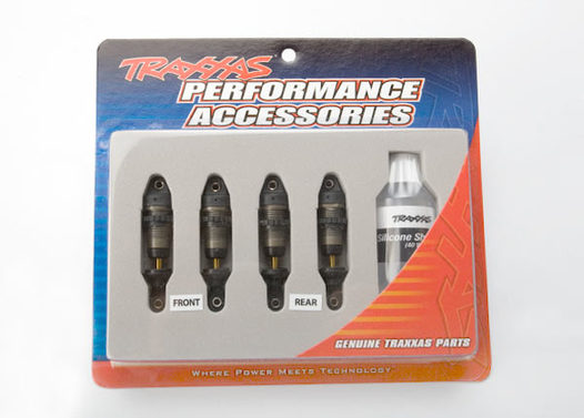 Shocks, GTR hard anodized, Teflon-coated bodies with TiN shafts (fully assembled, without springs) (4)