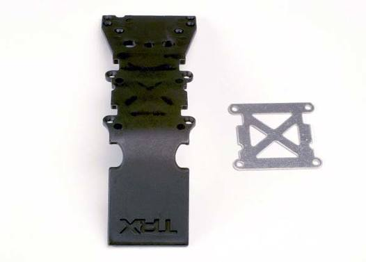 Skidplate, front plastic (black)/ stainless steel plate