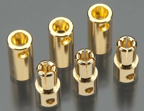 Solid High Power 5.5mm Gold Connector (3 sets)