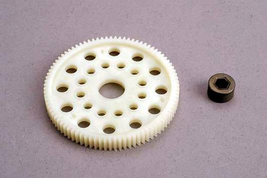 Spur gear (87-tooth) (48-pitch) w/bushing