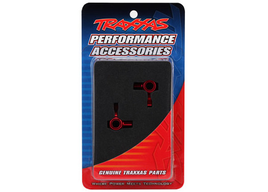 Steering blocks, aluminum (red-anodized) (left & right)
