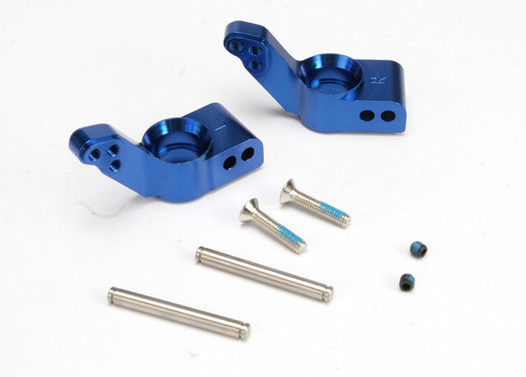 Stub axle carriers, blue-anodized 6061-T6 aluminum, rear (1.5 degrees toe-in)(L&R)