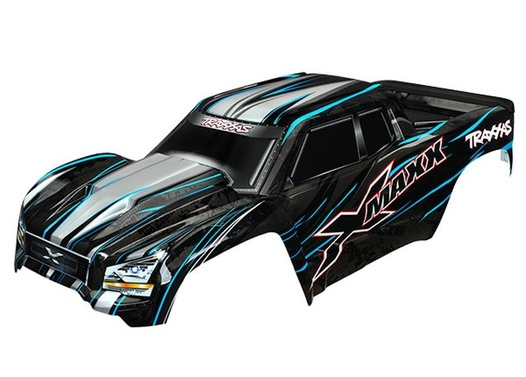 TRAXXAS Body, X-Maxx, blue (painted, decals applied) (assembled with