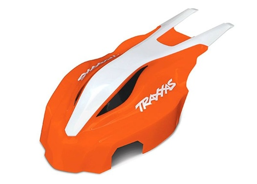 TRAXXAS Canopy, front, orange/white, Aton