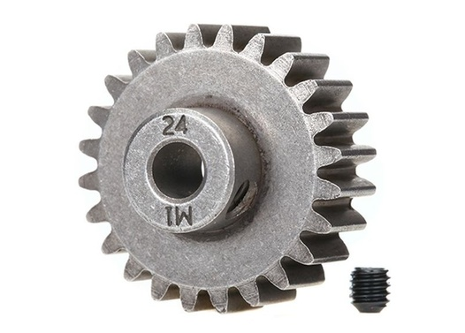 TRAXXAS (compatible with steel spur gears) Gear, 24-T pinion (1.0 metric pitch) (fits 5mm shaft)/ set s