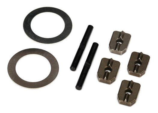 TRAXXAS (for #7781X aluminum differential carrier) Spider gear shaft (2)/ spacers (4)/16x23.5x.5 stainless wash