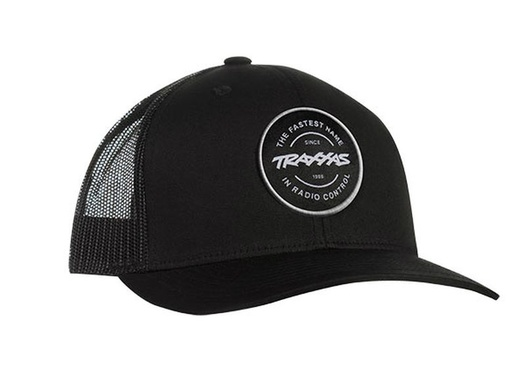 TRUCKER HAT CIRCLE PATCH BLACK