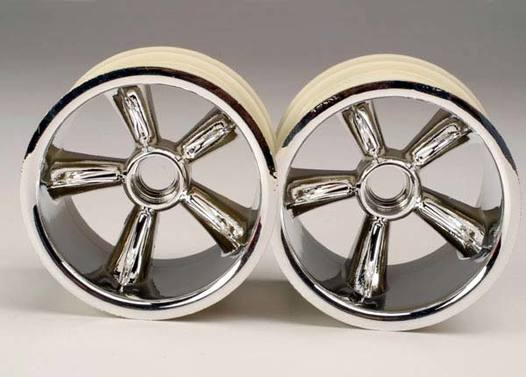 TRX Pro-Star chrome wheels (2) (front) (for 2.2  tires)