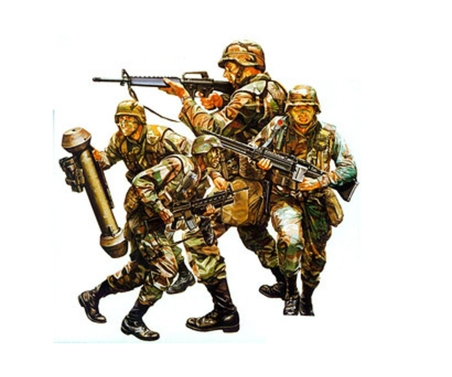Tamiya 1:35 Fig.-Set US Moderne Infanterie (4)