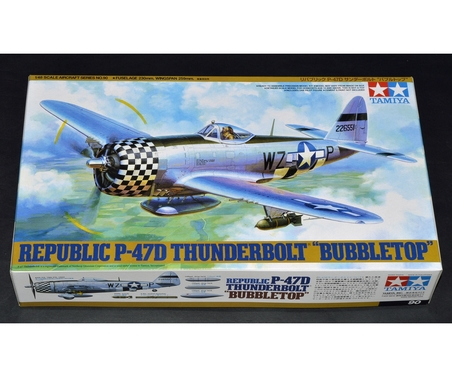 Tamiya 1:48 WWII US Rep. P-47D Thunderb.Bubblet