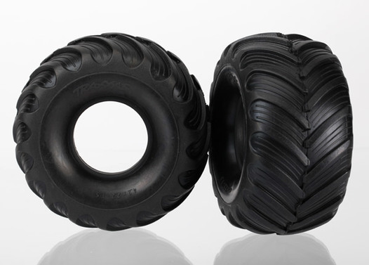 Tires, Monster Jam replica, dual profile (1.5  outer and 2.2  inner) (left and right)