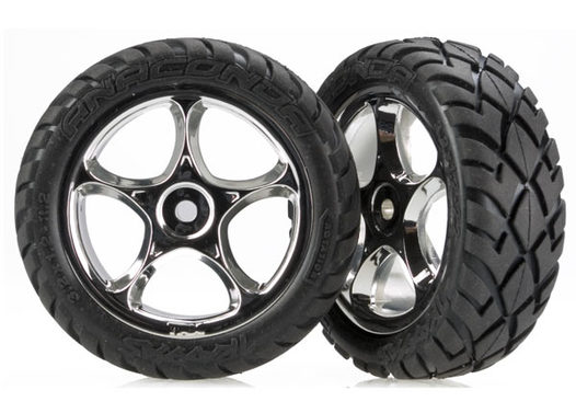 Tires & wheels, assembled (Tracer 2.2  chrome wheels, Anaconda 2.2  tires with foam inserts) (2) (Bandit front)