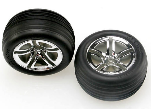 Tires & wheels, assembled, glued (2.8 ) (Jato Twin-Spoke wheels, Alias ribbed tires, foam inserts) (nitro front) (2)