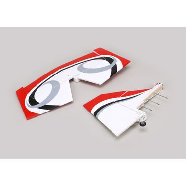 Twist 60 (True Red) Tail set w/ Elev, Fin, Rudder