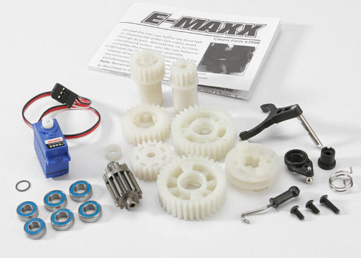 Two Speed Conversion Kit (E-Maxx) (includes wide and close ratio first gear sets, sub-micro servo, and linkage)
