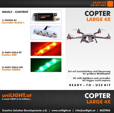 UniLight Copter-Large 4X Beleuchtungsset