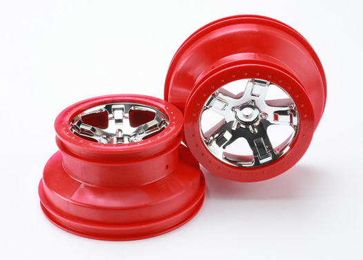WHEELS, SCT CHROME, RED BEADLO