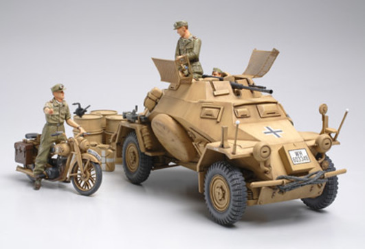 WWII SdKfz.222 Späh-Pz.Nord Afr.(3) 1:35