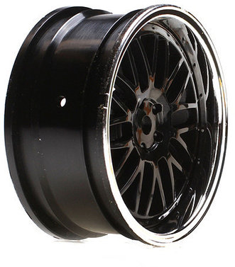 Wheel FR Deep Mesh 54x26mm Black/Chrome (2)