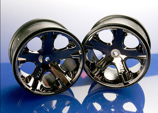 Wheels, All-Star 2.8  (black chrome) (Rustler, Stampede rear only)