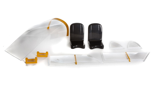 Window Set with Seats: Carbon Cub 15cc