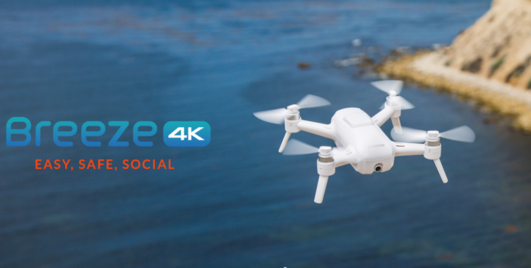 "Yuneec Breeze RTF ""my flying 4K-UHD-camera"" inkl. live Stream Feature"