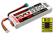 LiPo Pack ROXXY Evo 3-3200M 30C mit/with BID-Chip