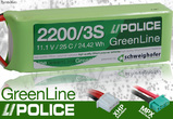 LiPolice Greenline 30C New Light Edition 2200/3S 11,1V MPX
